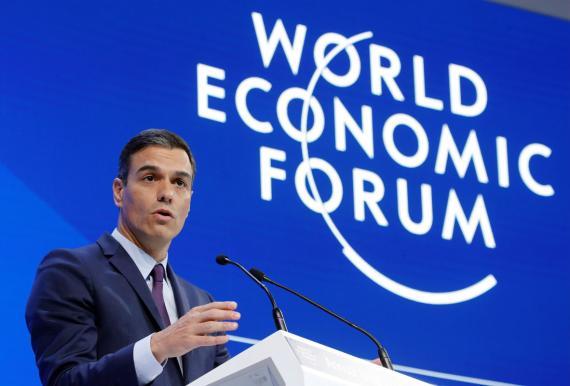 Pedro Sánchez en el Foro Económico Mundial.