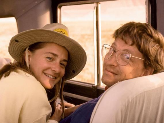 Bill and Melinda Gates on their first trip to Africa in 1993.