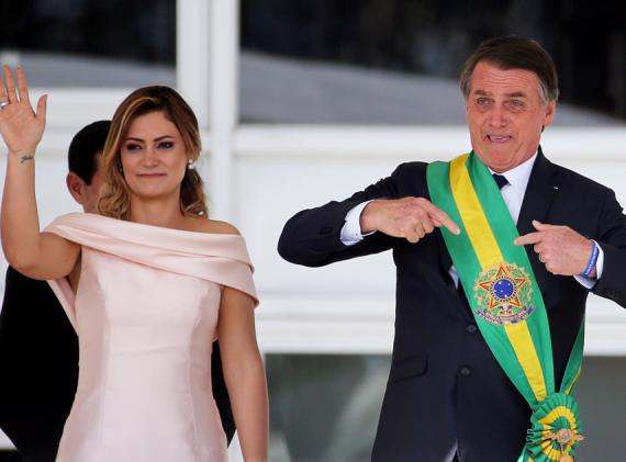 Jair Bolsonaro en el momento de su toma de posesión como nuevo presidente de Brasil
