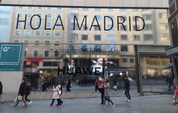 Espacio Huawei en Madrid —Gran Vía, 48
