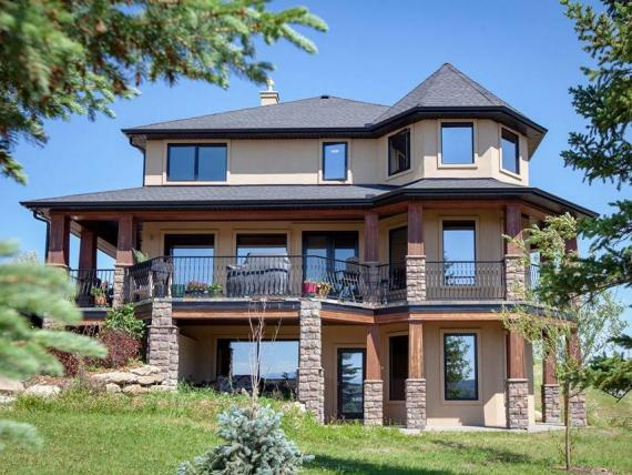 The home is about 40 miles from the city of Calgary.