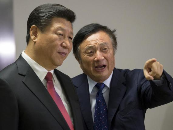 Huawei CEO Ren Zhengfei with Chinese President Xi Jinping.