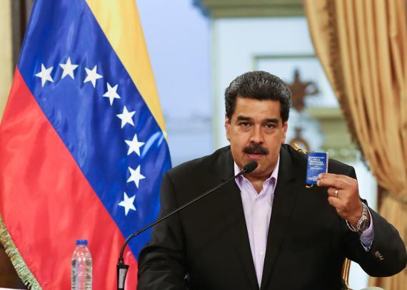 Nicolás Maduro, presidente de Vuenezuela.