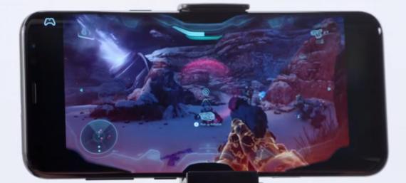 """Project xCloud de Microsoft ejecutando """"Halo"""" en un smartphone."""
