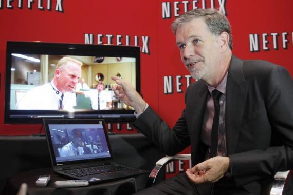 Netflix's Chief Executive Officer Reed Hastings speaks during an interview with Reuters in Buenos Aires September 7, 2011.