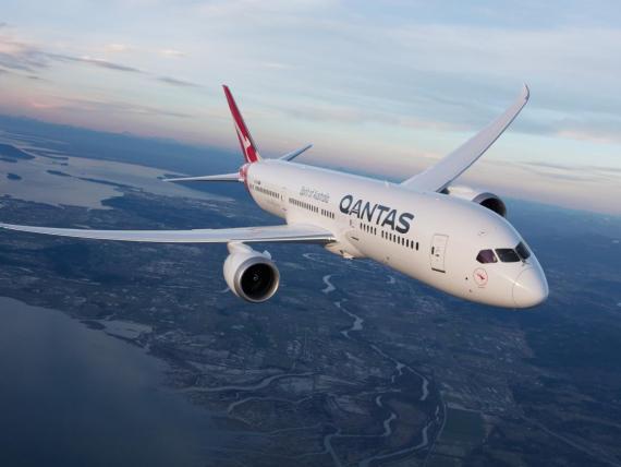 A Qantas Boeing 787-9 Dreamliner.