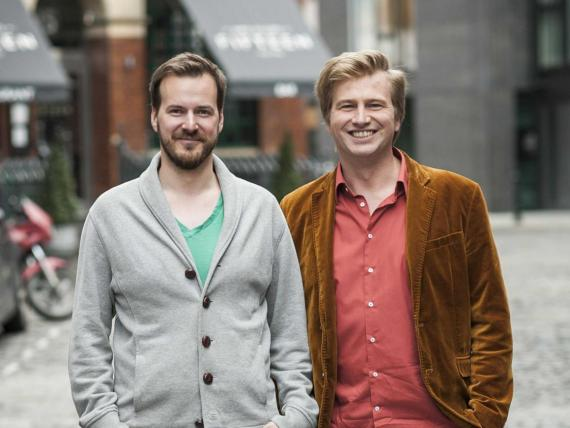 Taavet Hinrikus (l), founder of TransferWise and one of the letter's signatories, with his cofounder Kristo Käärmann.