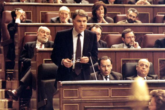 Felipe González, en la sesión de investidura del Congreso en 1989.