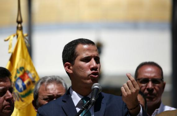 Juan Guaidó, autoproclamado presidente interino de Venezuela.
