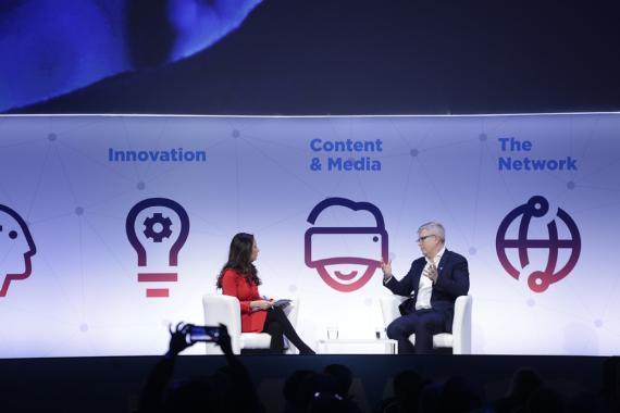 Charla durante el Mobile World Congress 2018.