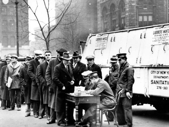Un grupo de aspirantes a un puesto de empleo.
