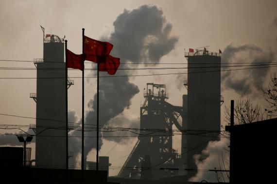 Un polígono industrial en China.