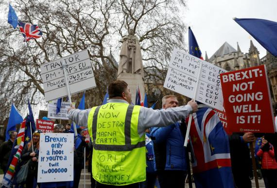 Una manifestación a favor del Brexit.