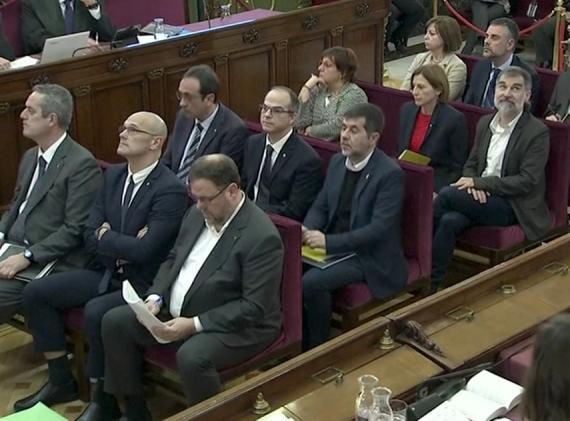Acusados juicio procés