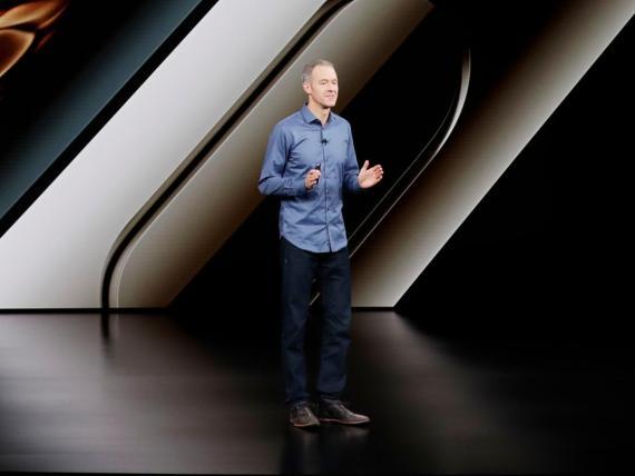 El COO de Apple, Jeff Williams, habla sobre el Apple Watch en septiembre de 2018.
