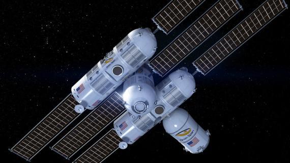 La estación espacial Orion Span, sede de Aurora Station