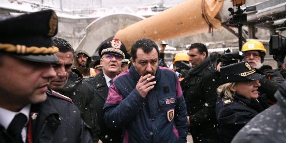 El ministro italiano de Interior y líder de la ultraderechista Lega, Matteo Salvini