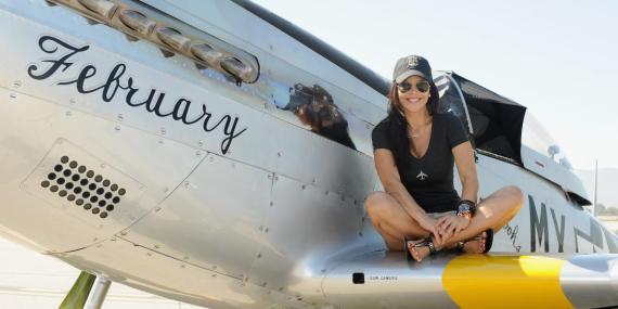 Lauren Sanchez tiene licencia de piloto.