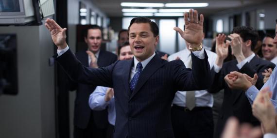 Leonardo DiCaprio interpretó a Belfort in El lobo de Wall Street.