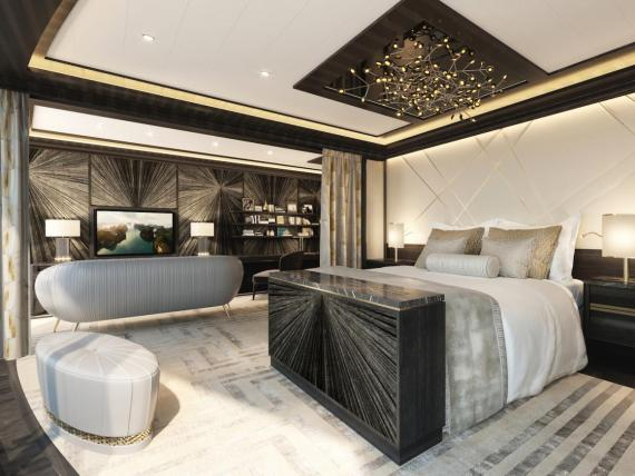 La Regent Suite tendrá una cama de 200.000 dólares.