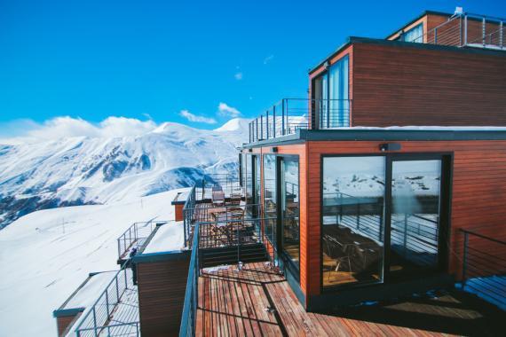 El complejo de esquí de Gudari en Georgia.