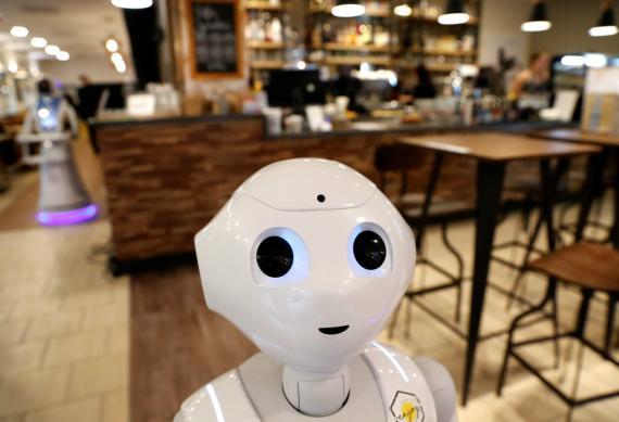 Los robots se pueden convertir en algo habitual en los comercios y en los restaurantes.