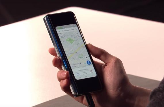 El Samsung Galaxy Fold fue presentado por Samsung en San Francisco.