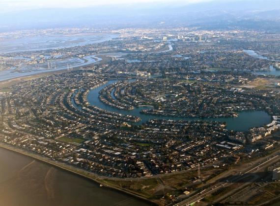 Vista aérea de Silicon Valley