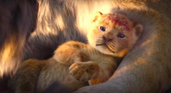 "Simba is shown in a new teaser for ""The Lion King"" remake."