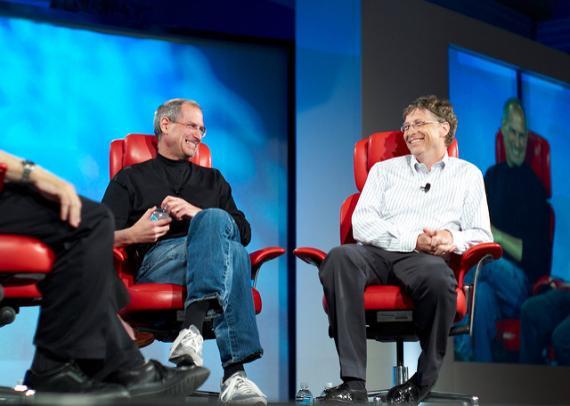 Steve Jobs y Bill Gates.