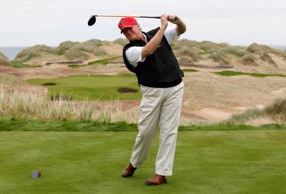 Donald Trump, en su campo de golf.