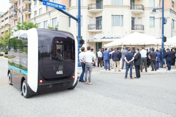 El minibús Olli.