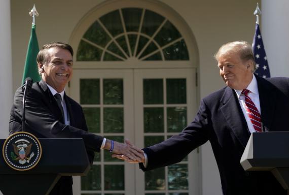 Jair Bolsonaro y Donald Trump, en la Casa Blanca..