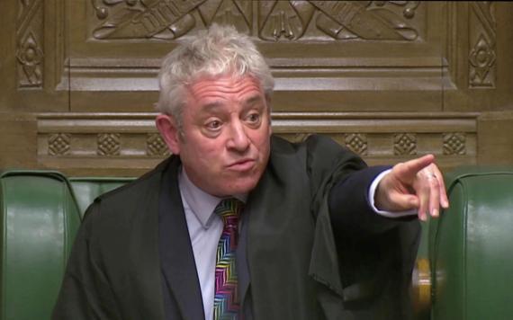 John Bercow, Mr. Speaker en la Cámara de los Comunes.