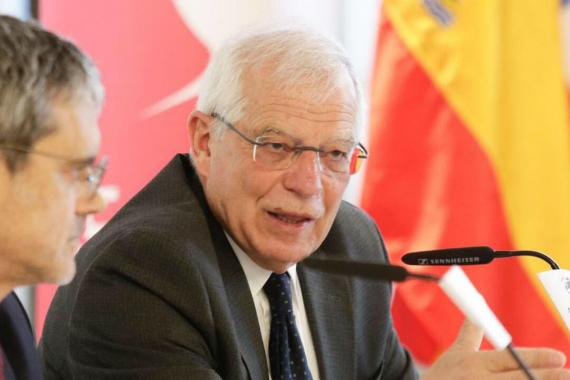 Josep Borrell, ministro de Exteriores del Gobierno.