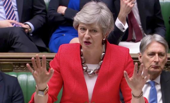 Theresa May en la Cámara de los Comunes.