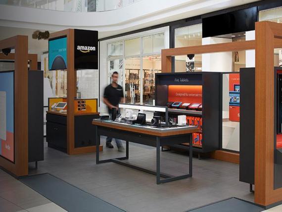 Una tienda pop-up de Amazon.