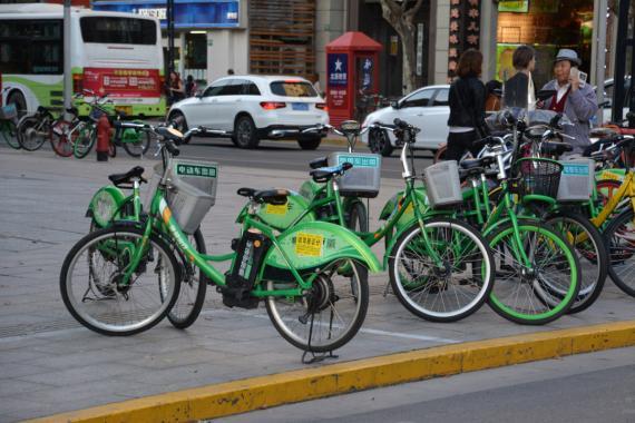 Bicicleta eléctrica en China