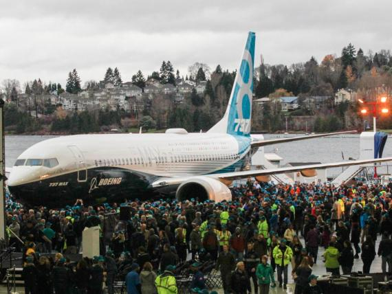 A Boeing 737 Max 8.