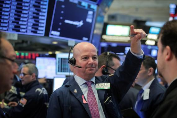Un trader feliz en Wall Street