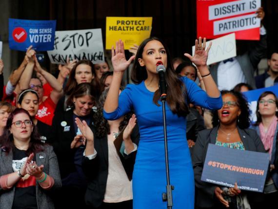 La congresista demócrata Alexandria Ocasio-Cortez