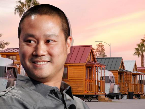 Tony Hsieh, el CEO multimillonario de Zappos, vive en un parking de caravanas.