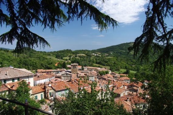 Montieri, pueblo en la Toscana