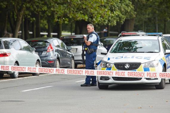 Police cordoned off the areas where Friday's terror attacks took place in Christchurch, New Zealand.