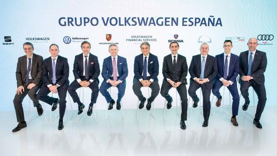 La plana mayor del Grupo Volkswagen España.