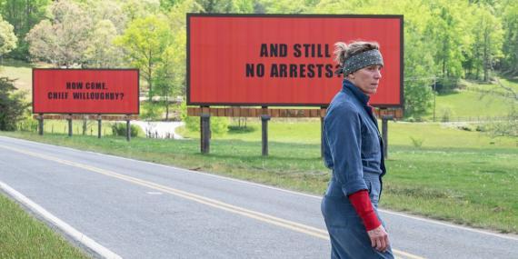 Frances McDormand en Tres anuncios en las afueras.
