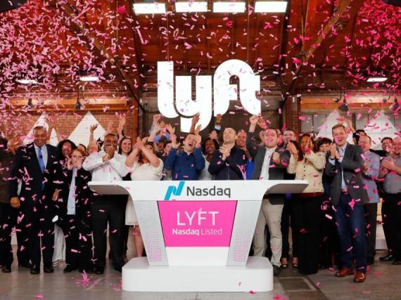 Imagen de la salida a bolsa de Lyft