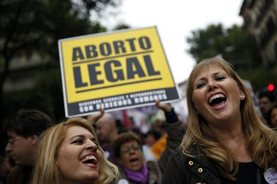 Manifestación contra la reforma del aborto en 2014 en Madrid.