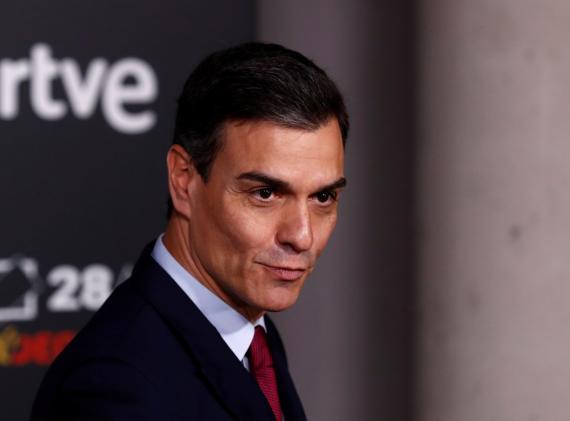 Pedro Sánchez, candidato del PSOE a la presidencia del Gobierno, llega a RTVE para el debate de las Elecciones Generales 2019.