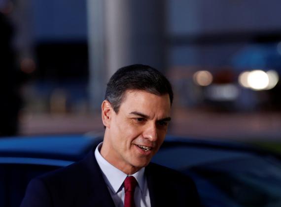 Pedro Sánchez a su llegada a Prado del Rey para el debate de RTVE de las Elecciones Generales 2019.